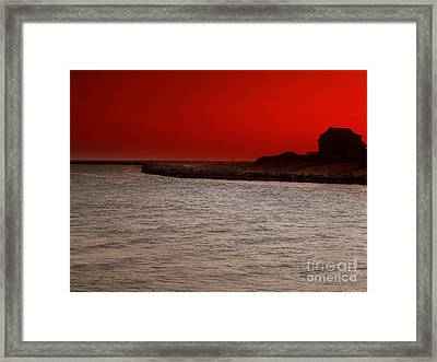 Last Of Day Framed Print by Rick Maxwell