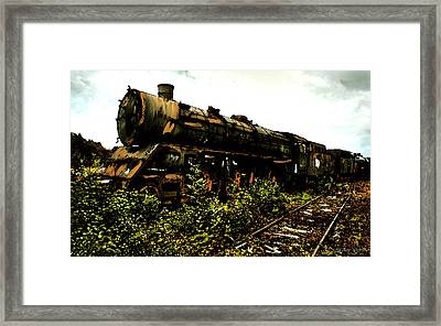 Last Of The 309  Steam Train  Framed Print by Iconic Images Art Gallery David Pucciarelli