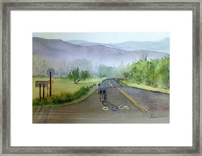 Last Of The Day Temescal Canyon Framed Print