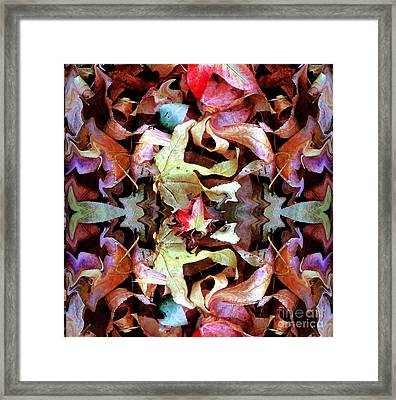 Fall's Perfect Kaliedoscope Framed Print by Marcy  Orendorff
