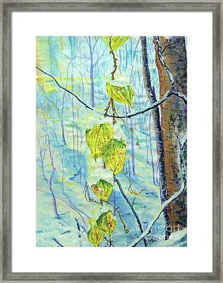 Last Of The Leaves Framed Print