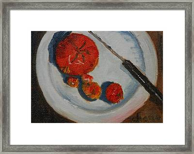 Last Of The Tomatos Framed Print by Diane Fiore