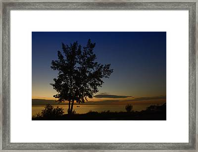 Last One On The Lake Framed Print