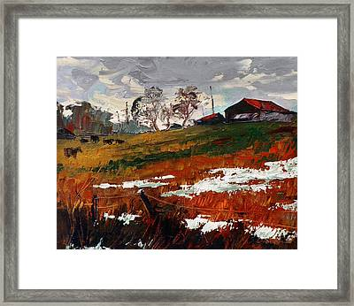 Last Patches Of Snow Framed Print