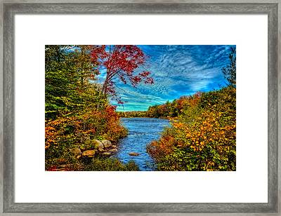 Last Peek Of Autumn On The Moose River Framed Print by David Patterson
