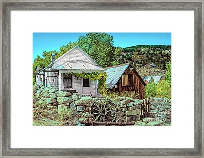 Last Post Office And Ice House Framed Print