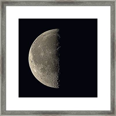 Last Quarter Moon Framed Print