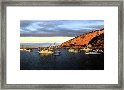 Framed Print featuring the photograph Last Rays At The Bay by Nareeta Martin