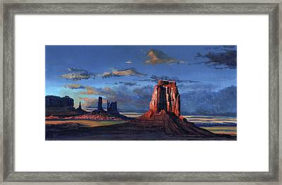 Last Rays Of The Day Framed Print by Timithy L Gordon