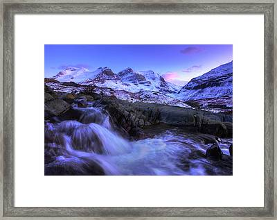 Framed Print featuring the photograph Last Rays On Andromeda by Dan Jurak