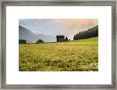 Framed Print featuring the photograph Last Rays On The Valley by Yuri Santin