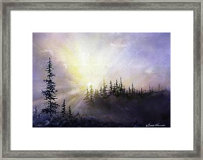 Last Rays Sunset Framed Print