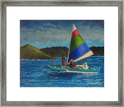 Last Sail Before The Storm Framed Print
