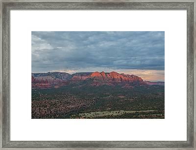 Last Sedona Light Framed Print by Bill Cantey