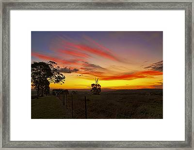 Last Shot Of The Day Framed Print