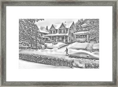 Last Snow For Montclair 2015 Framed Print by Kellice Swaggerty