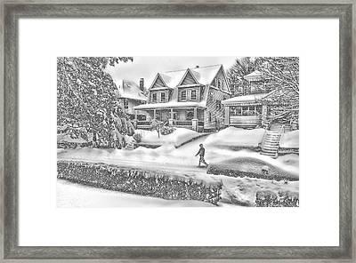 Last Snow For Montclair 2015 Framed Print