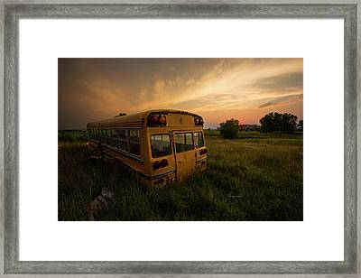 Framed Print featuring the photograph Last Stop  by Aaron J Groen