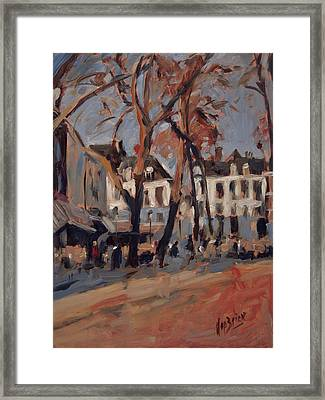 Last Sunbeams Our Lady Square Maastricht Framed Print by Nop Briex
