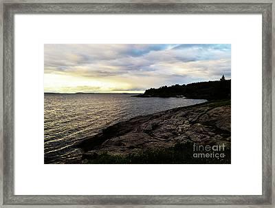 Last Sunlight Framed Print by Georgia Sheron