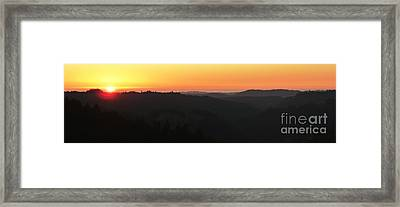 Last Sunset Before The Autumnal Equinox  Framed Print by JoAnn SkyWatcher