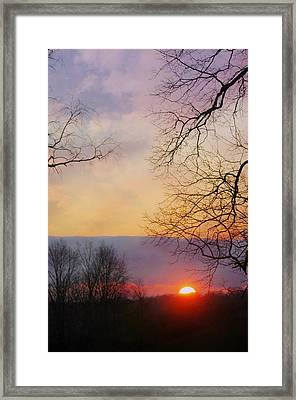 Last Sunset Of The Year Framed Print by Diana Angstadt
