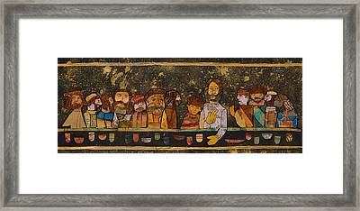 Last Supper 2 Framed Print by Carol Cole
