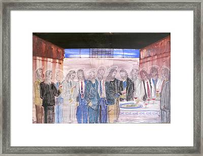 Last Supper 20th Century Framed Print by Marwan George Khoury