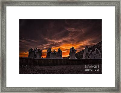 Last Supper At Sunset Framed Print by Janis Knight