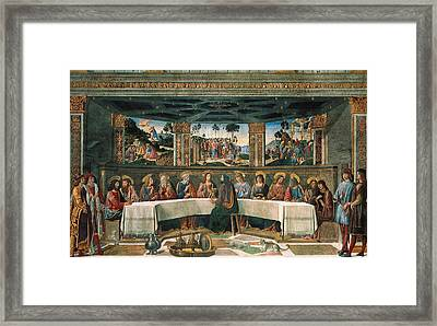 Last Supper Framed Print by Cosimo Rosselli