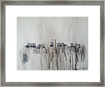 Last Supper Framed Print by Fei A