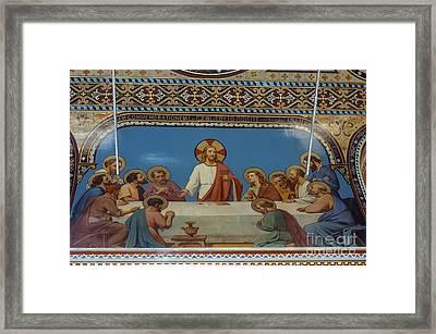 Last Supper In Polycarp Church Framed Print by Bob Phillips