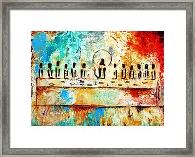 Last Supper Iv Framed Print by Ivan Guaderrama