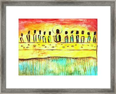 Last Supper Framed Print by Ivan Guaderrama
