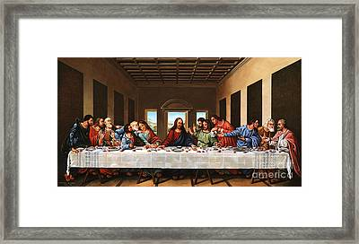 Last Supper Framed Print by Michael Nowak