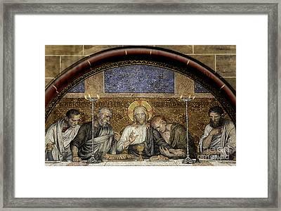 Last Supper Of Christ Framed Print by Adrian Hancu
