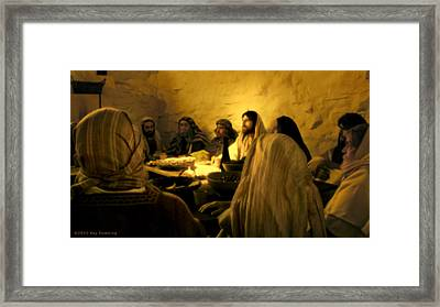 Last Supper Framed Print by Ray Downing