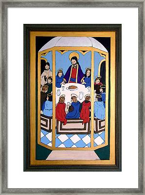 Framed Print featuring the painting Last Supper by Stephanie Moore