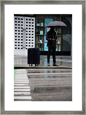Last Text  Framed Print by Empty Wall