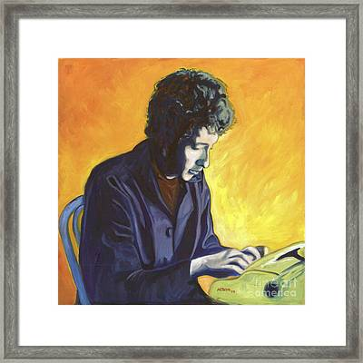 Last Thoughts On Woody Guthrie Framed Print by Natasha Laurence