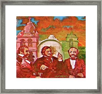 Last Three Mexican Generals Framed Print