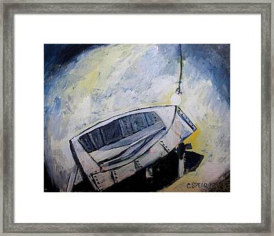 Last Time In The Patch Shed Framed Print by Charlie Spear