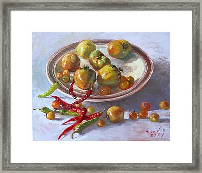 Last Tomatoes From My Garden Framed Print by Ylli Haruni