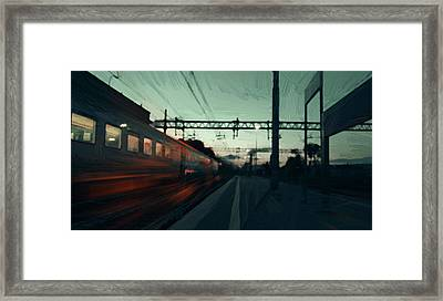Last Train Framed Print