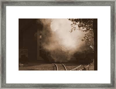 Last Train Goin' Framed Print by Fiona Kennard