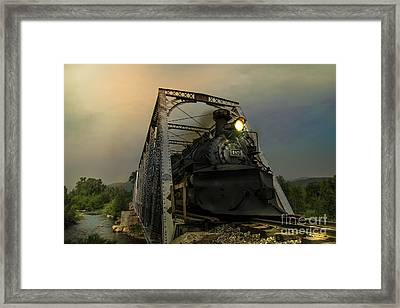 Last Train Into Chama Framed Print