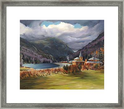 Last Train To Crawford Notch Depot Framed Print