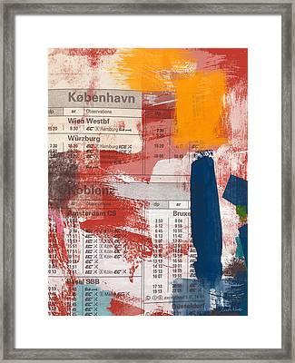 Last Train To Kobenhavn- Art By Linda Woods Framed Print