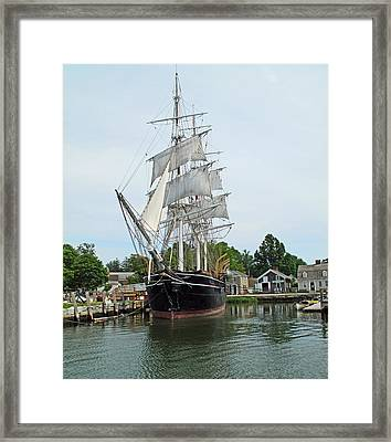 Last Wooden Whale Ship Framed Print