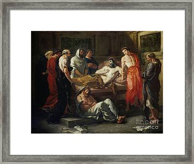 Last Words Of The Emperor Marcus Aurelius Framed Print by MotionAge Designs